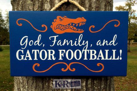 Florida Gators Football God Family and Gator by KRCustomWoodcrafts