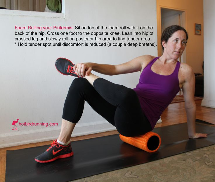How to Foam Roll your Piriformis - Blog - Hot Bird Running - Run Coaching