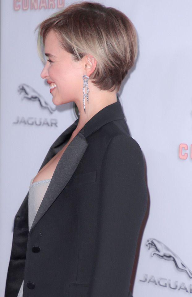 Emilia Clarke - #clarke #emilia - #HairstyleCuteRoundFaces