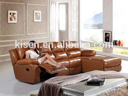 Furniture recliner L-shape sofa ashley leather sofa KM6005L