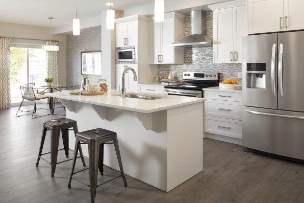 Open floor plan kitchen White Kitchen Kitchen Island With Sink