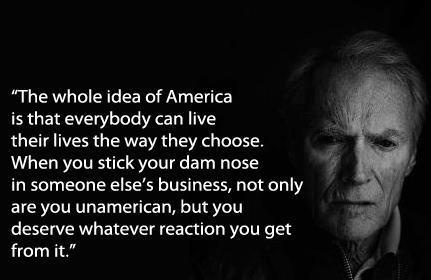 "Clint Eastwood Quote Vote Romney/Ryan Nov 6 '12 || I don't normally repin things with misspellings, but this one deserves a repin... Should say ""damn"" vs ""dam"""