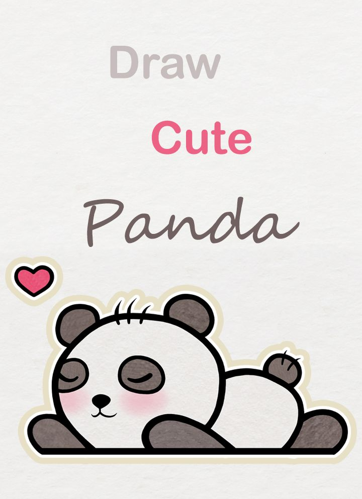 Learn How To Draw So Cute Sleepy Baby Panda Easy Step By Step