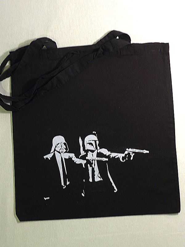 Star Wars Meets Pulp Fiction Cotton Tote via Tribe of E. Click on the image to see more!