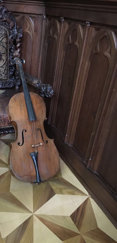 Aman's cello.