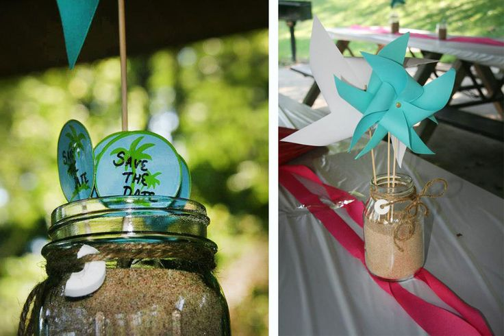 Beach Theme Party Food | In addition to paper pinwheels, the food selection included a variety ...