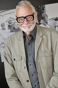 George Andrew Romero (/rəˈmɛroʊ/; February 4, 1940 – July 16, 2017) was an American-Canadian filmmaker, writer and editor, best known for his series of gruesome and satirical horror films about an imagined zombie apocalypse, beginning in 1968 with Night of the Living Dead, which is often considered a progenitor of the fictional zombie of modern culture. Other notable films in the series include Dawn of the Dead (1978) and Day of the Dead (1985