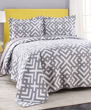 Loving This Gray Sylvie Quilt Set On Zulily Zulilyfinds