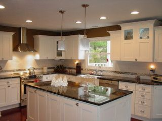 kitchen designs photos gallery cosmic black granite white cabinets house ideas 4671