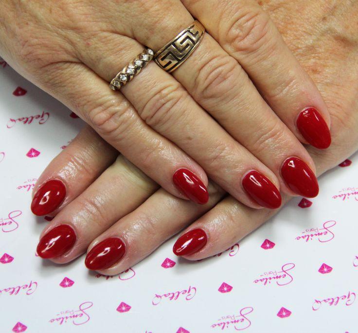 Czerwień 027 #red #rednails #nails #semilac