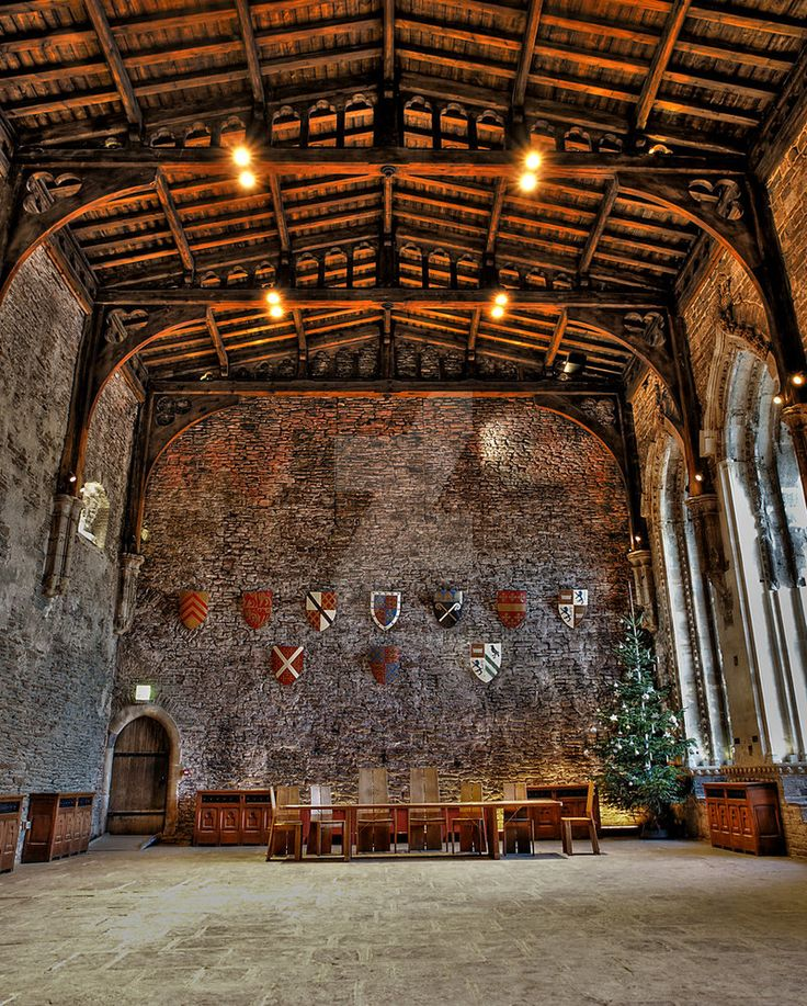 Great Hall Caerphilly Castle by Grosvenor-Photos