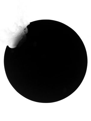 MONOCHROME CIRCLE AND SMOKE I BY KENJI AOKI | Shop now at surfaceview.co.uk