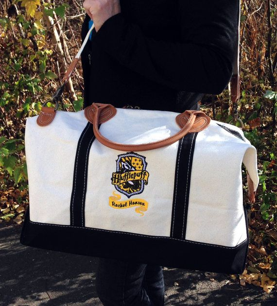 Hogwarts House Canvas Weekend Duffle Bag- OMG I NEED THIS IS RAVENCLAW!