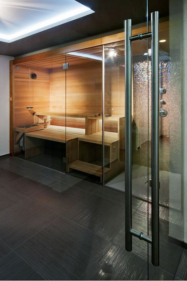 ... Villa in Gardencity by Architema If I ever have money to put a steam room in my bathroom. This is what it will look like.