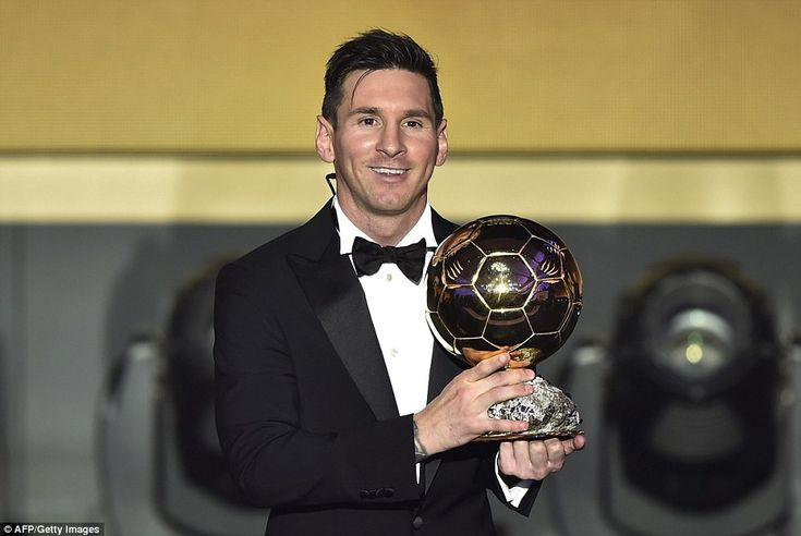 Lionel Messi announced as FIFA Ballon d'Or 2015 winner ahead of Cristiano Ronaldo and Neymar   Daily Mail Online