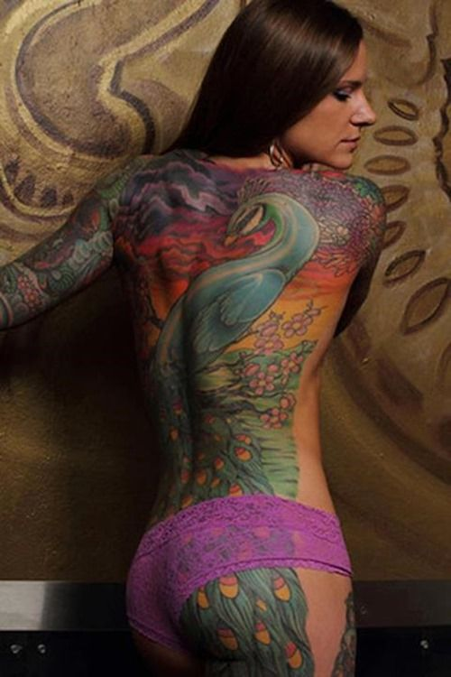 Best 25 full back tattoos ideas on pinterest back for Body tattoos for females