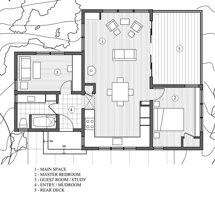 Delightful Modern Style House Plan   2 Beds 1 Baths 840 Sq/Ft Plan #891