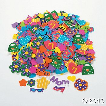 500 Marvelous Mom Self-Adhesive Foam Shapes