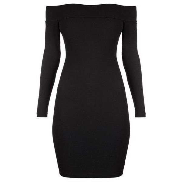 Black Off-Shoulder Bodycon Dress Lookbook Store ($24) ❤ liked on Polyvore featuring dresses, sexy body con dresses, off shoulder dress, sexy dresses, sexy cocktail dresses and body con dresses