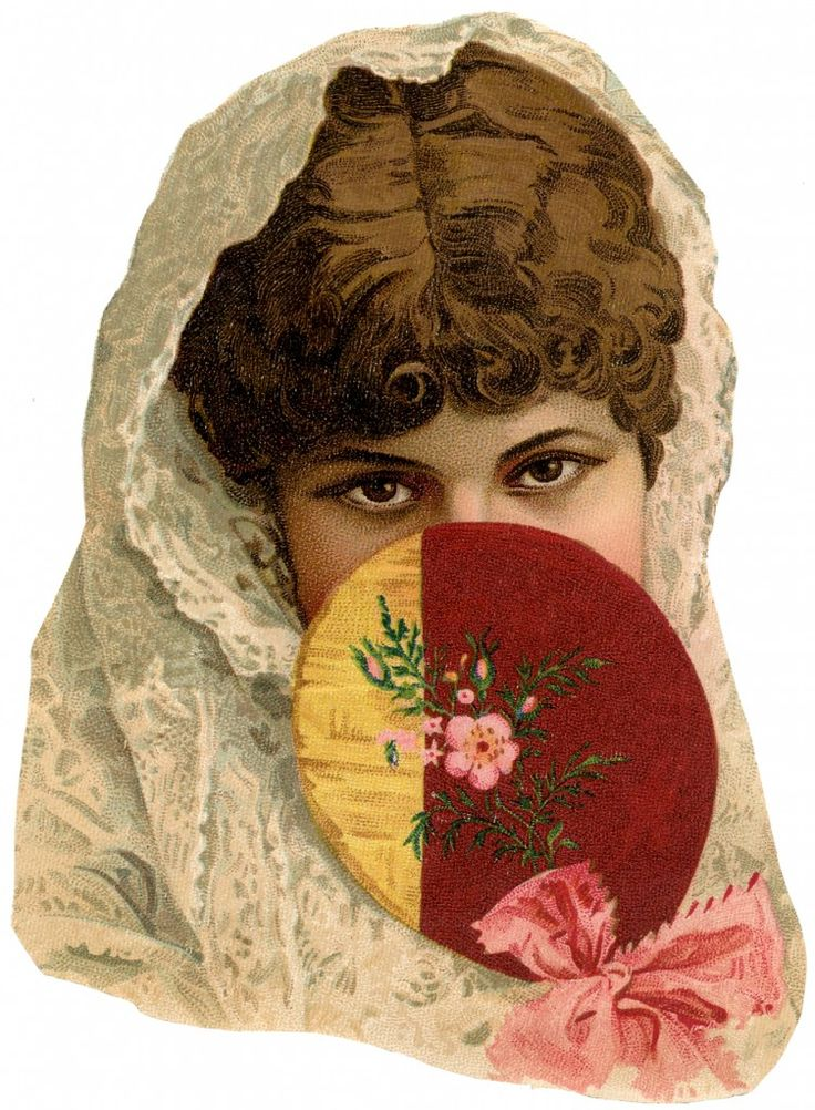 Vintage Fan Lady Image! - The Graphics Fairy: