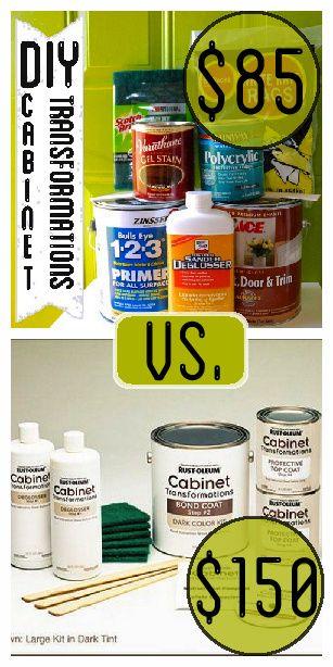 DIY Cabinet Transformations versus Rustoleum