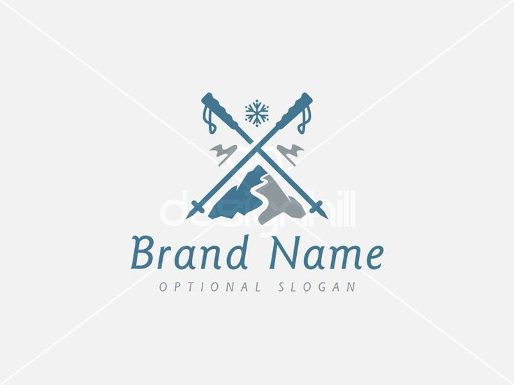 New logo design for sale on Design Hill - flag, fashion, sport, cross, cold, mountain, mount, snow, ice, road, wavy, weather, snow flake, winter, ski, pole, stick, spike, pinnacle, slope, alpine, downhill, frozen, frost, resort, logo, design, template,