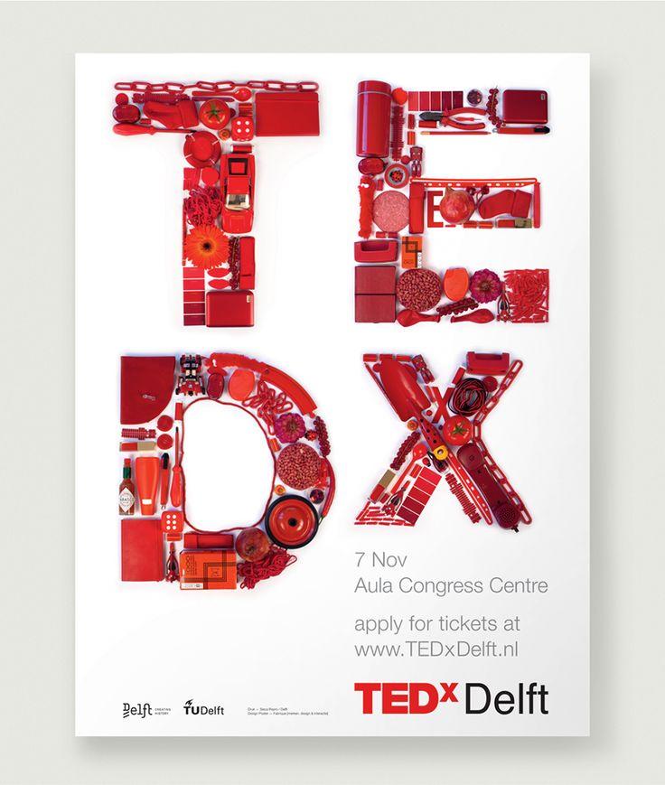 TEDx Delft Poster www.studio-enkelvoud.nl made at Fabrique.