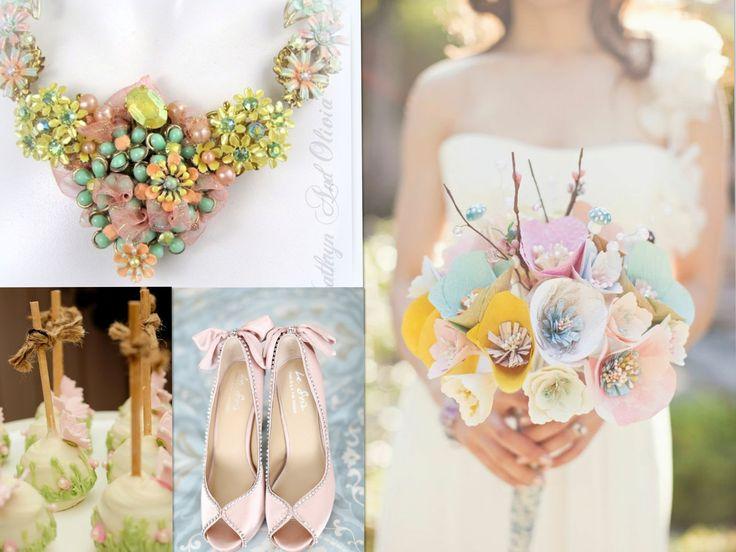 Summer Wedding Ideas...Color theme by aubresbridal.com: Dreams Engagement Wedding, Summer Wedding Ideas, Florists Ideas, Ideas Colors Theme, Paper Flowers, Summer Weddings