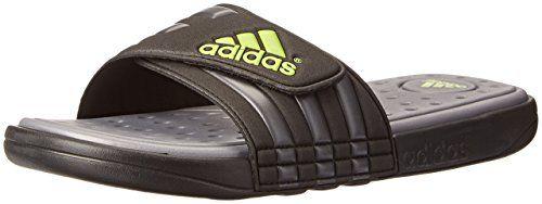 c2b198024 adidas Performance Men's adissage SC Sandal,Black/Grey/Green,7 M US ...