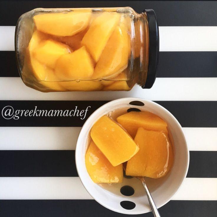 Peach compote! mmmm