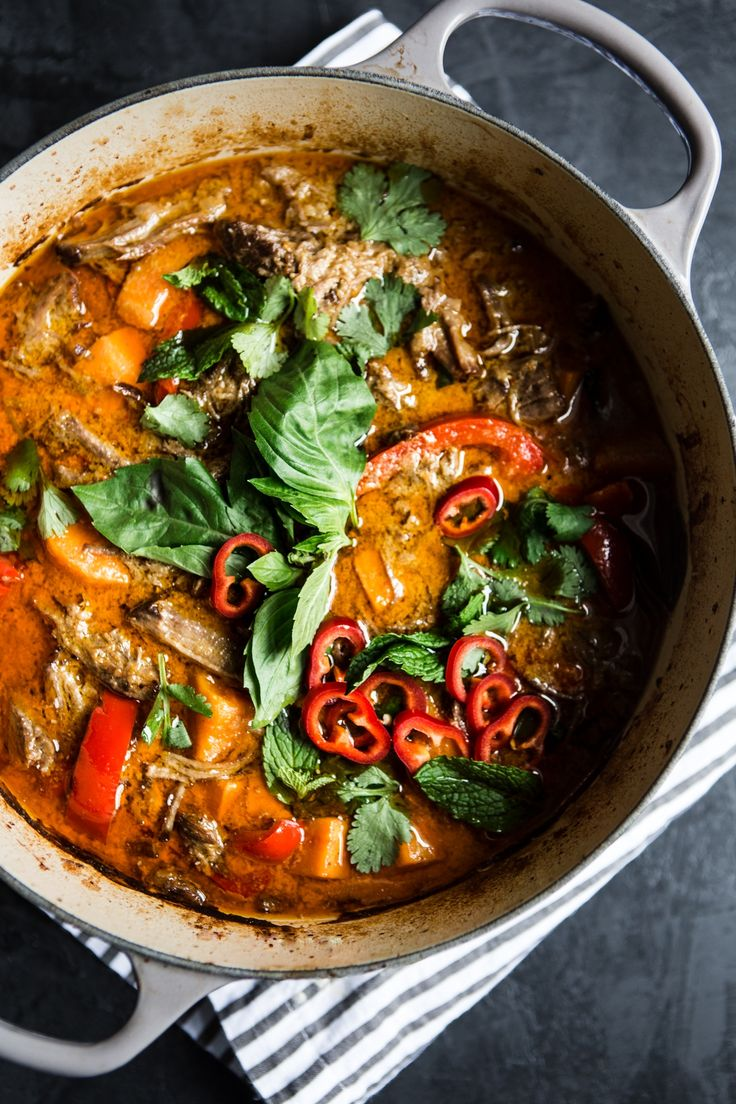 Roast Beef Red Curry