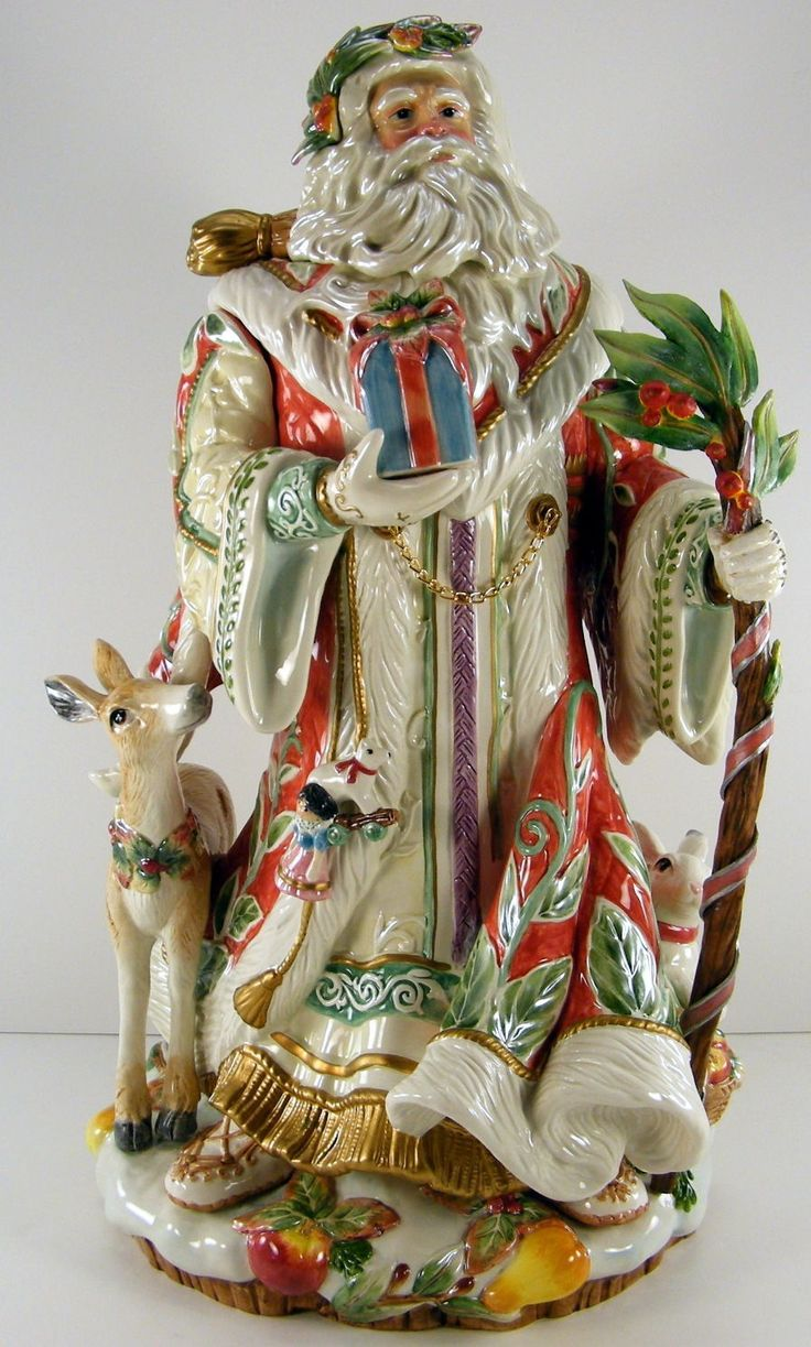 Fitz and floyd large enchanted holiday santa figurine