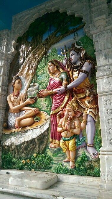 Lord Shiva, Godess Parvati, Ganesha and Buddha, near Mahalaksmi temple Mumbai, India