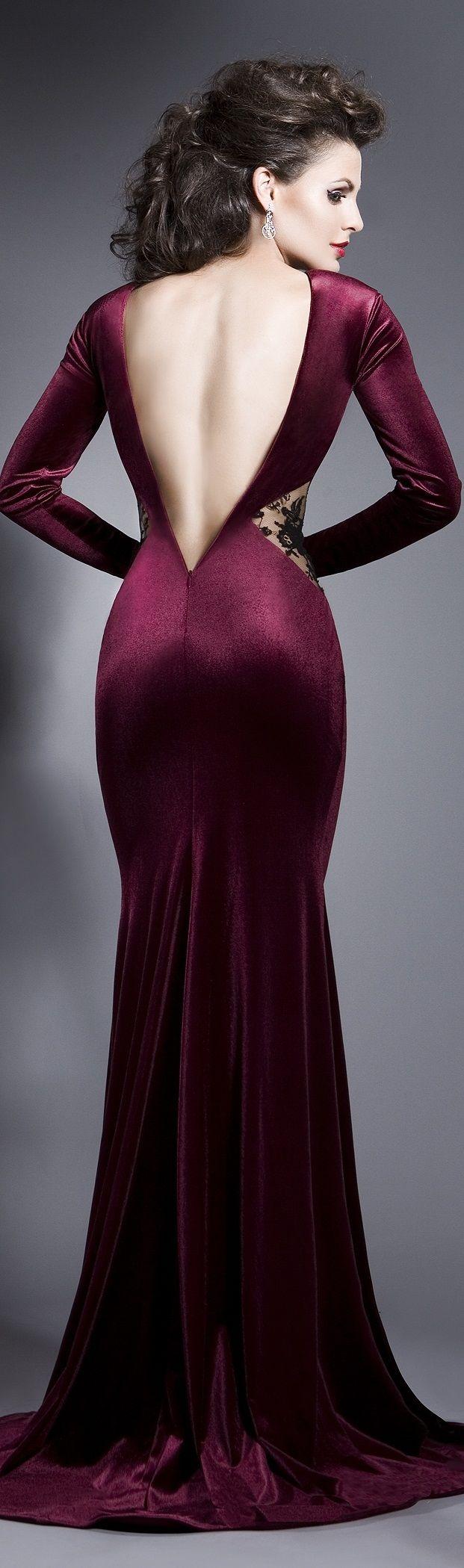 The color maroon purple dress