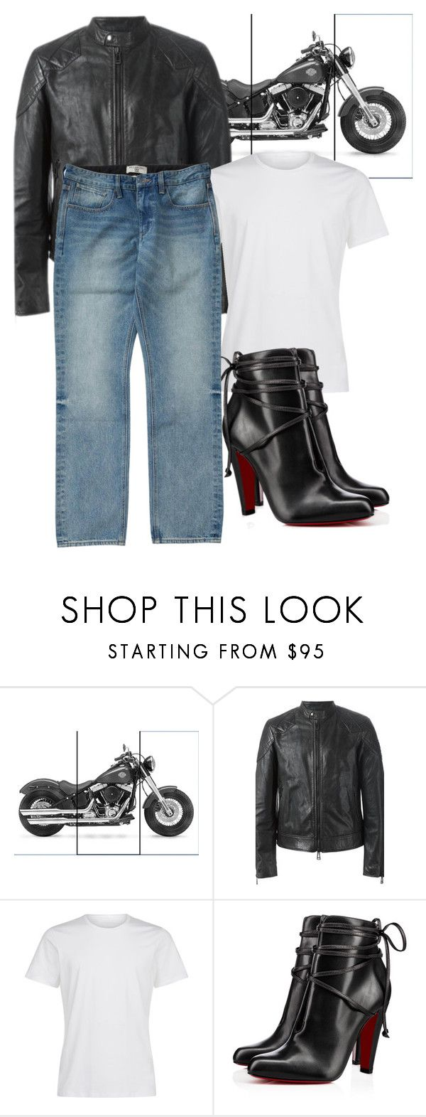 """// HEELS // MAN"" by consuelor on Polyvore featuring Belstaff, La Perla, Christian Louboutin, Billabong, men's fashion e menswear"
