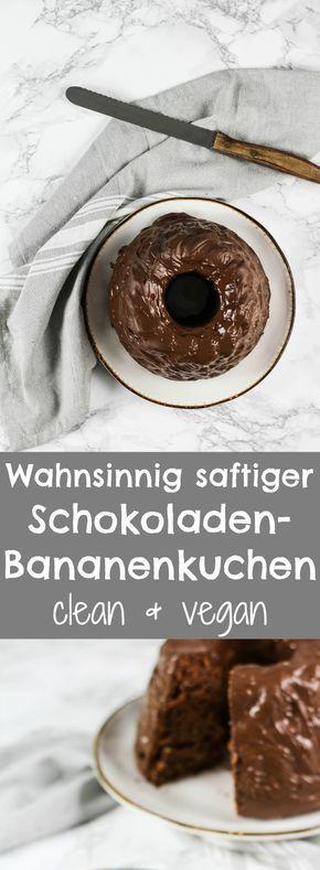 MEGA SAFTIGER VEGANER SCHOKOLADEN-BANANENKUCHEN, vegan backen, vegan kuchen