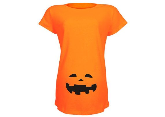 "Cute Haloween Maternity Shirt:  ""Halloween Jack"" Halloween Pregnancy Shirt on Etsy, $23.00"