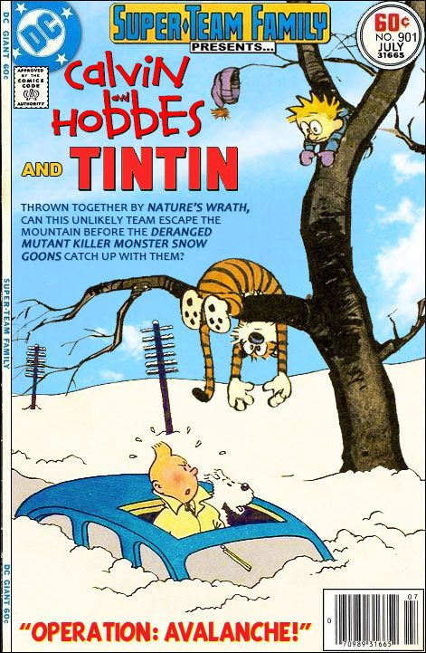 Super-Team Family: The Lost Issues!: Calvin & Hobbes and Tintin (Part One)