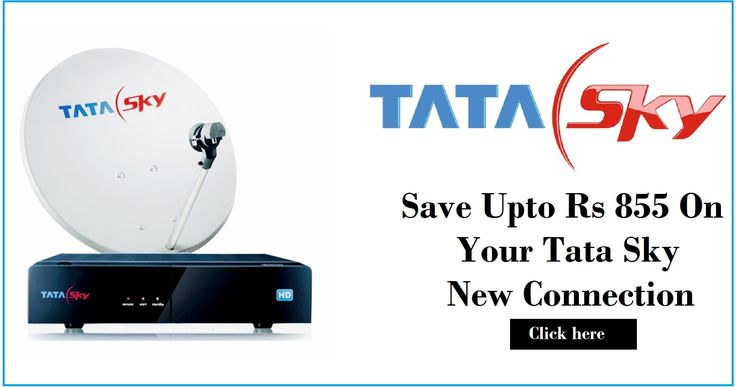 Now Tatasky Get amazing discounts this month. Hurry Up! Limited Offer.Tata sky Save   Upto Rs 855 on Your Tata Sky New Connection at mytokri tata sky offers. by using our   Tata Sky coupon and save upto 50% on tata sky and DTH recharge.