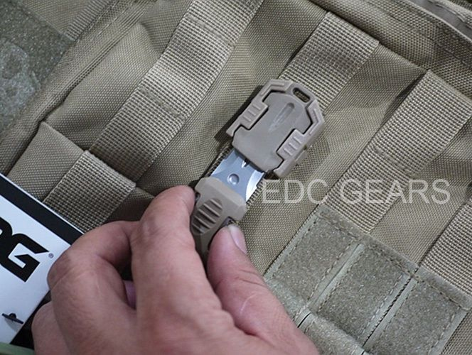 """Tactical Mini Stainless Steel Knife MOLLE 1"""" Webbing Tool Self Defence #Khaki"""
