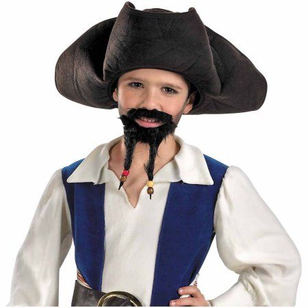 Pirate Hat, Mustache and Goatee Child Halloween Accessory, Boy's, Size: Standard-Accesory, Multicolor