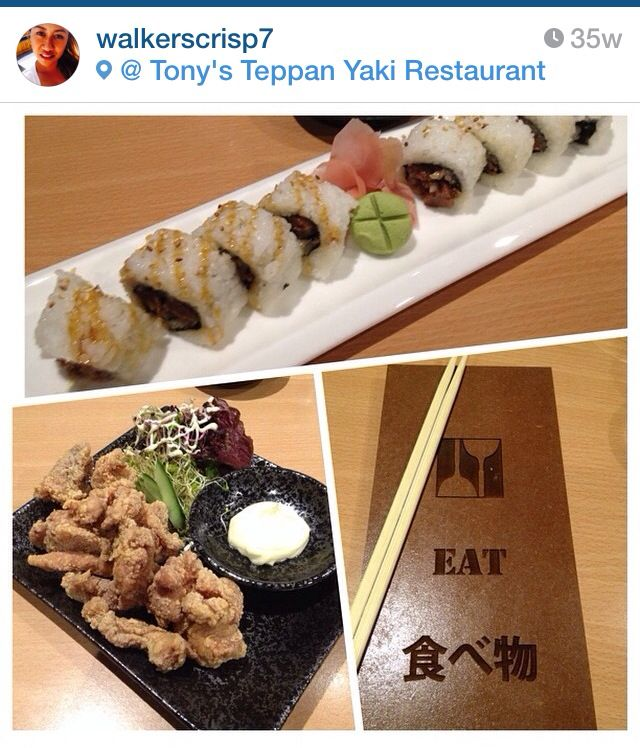 Japanese food: Tori Futo Maki, crispy chicken