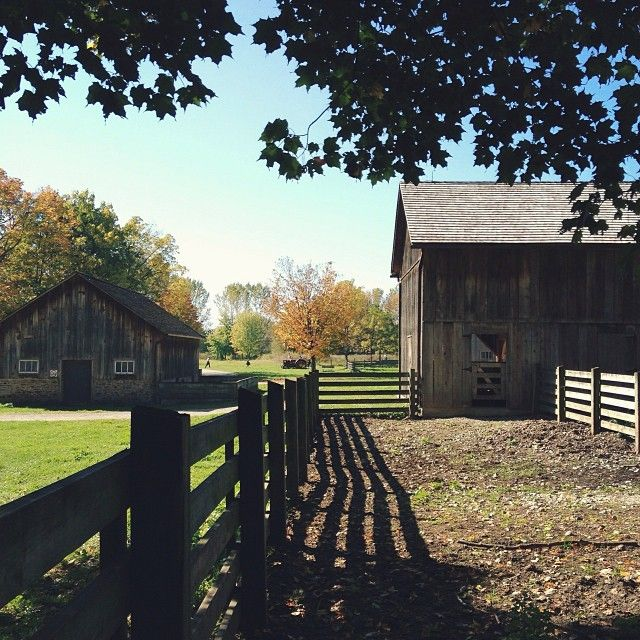 Bronte Creek Provincial Park, just outside of Oakville -- historical barns and fields great for family photos and adventure.