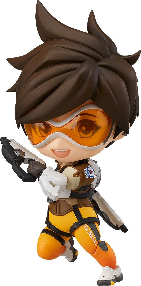 Good Smile Overwatch Tracer (Classic Skin Version) Nendoroid Figure. A Good Smile import. From the hit first-person shooter. Optional hair and leg parts. Trademark pulse pistols and pulse bombs. Numerous posing options.