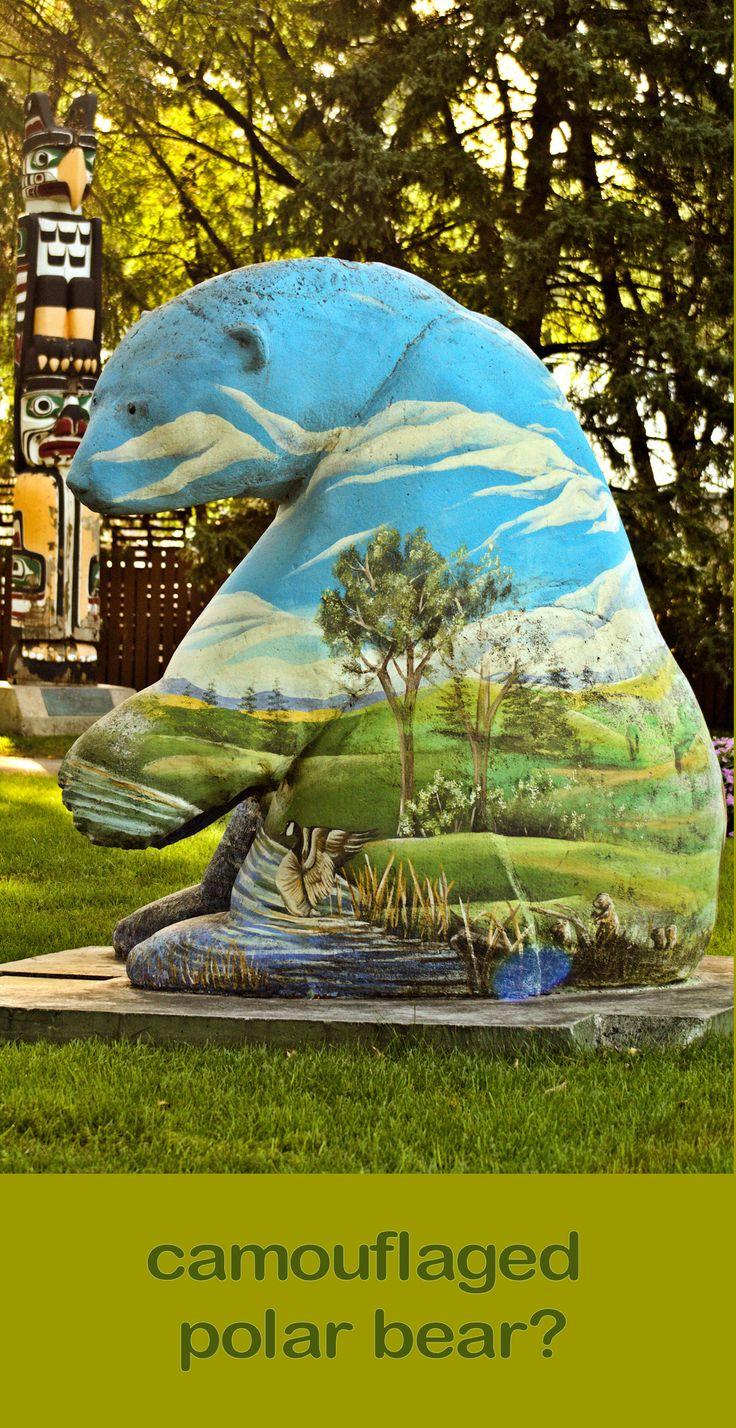 Winnipeg, Manitoba, Canada. Manitoba Legislative Building grounds. Be careful of the urban camouflaged #polarbears.
