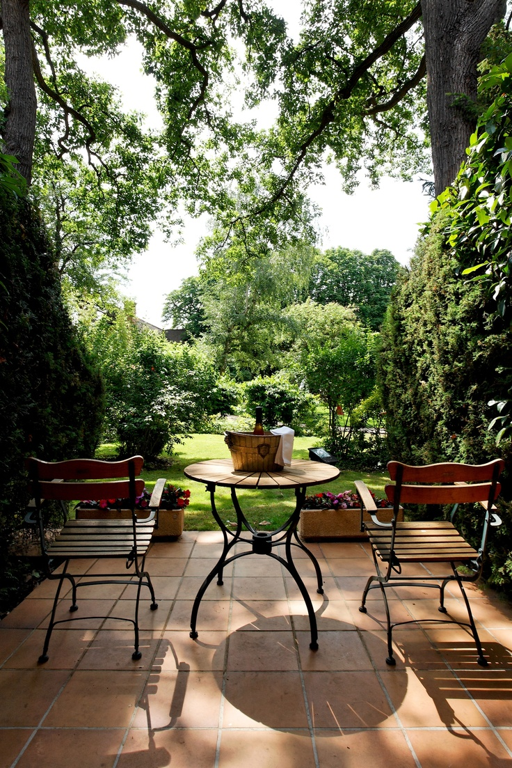 "Relais & Chateaux - Discover this charming, discreet hotel and restaurant in the heart of the Saint-Germain forest; what a treat to be surrounded by nature and yet still be so close to Paris. Cazaudehore ""La Forestière"" FRANCE #relaischateaux #gardens"
