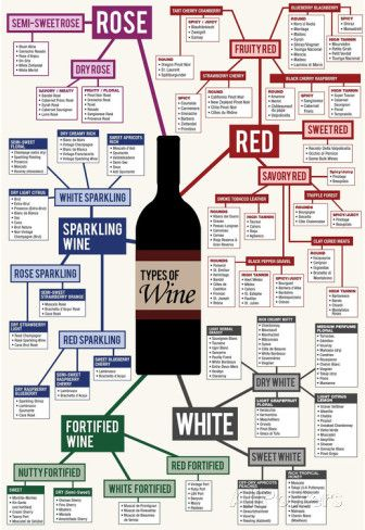 Types of Wine Chart Poster at AllPosters.com