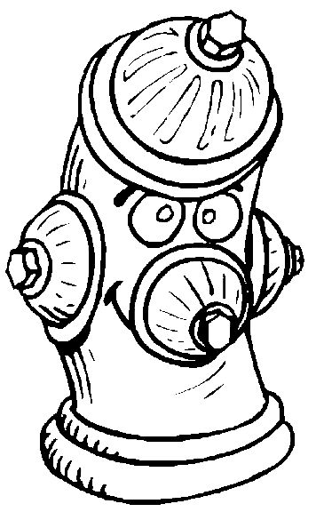 Free fire coloring pages fire hydrant coloring page for Fire hydrant coloring page