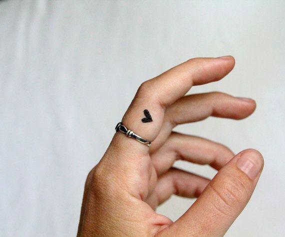 tiny heart temporary tattoos / valentine gift set of 5 black hearts and 2 heart and crossbones tattoos / fake tattoo / happytatts etsy