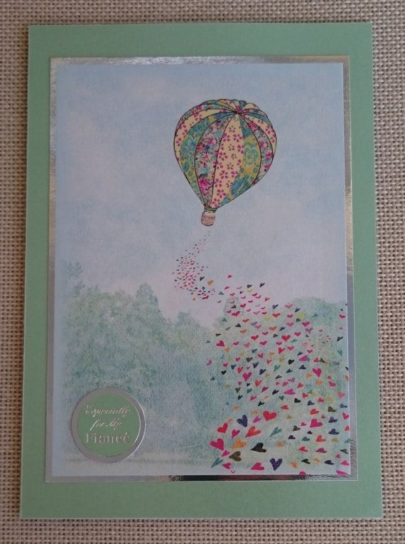 Handmade 5 x 7 Greeting Card  Fiance by BavsCrafts on Etsy